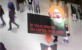 Orange réalité augmentée noël