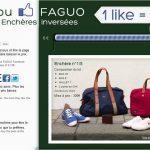 FAGUO et ses enchères inversées : plus vous « likez », plus le prix baisse