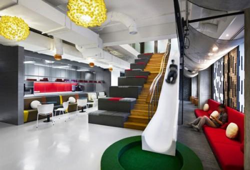 10 bureaux d agences de communication au design surprenant for Bureau entreprise design